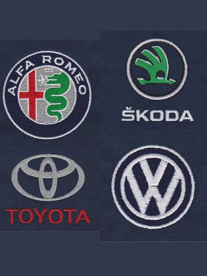 Broderies Alfa Roméo, Skoda, Toyota et Volkswagen